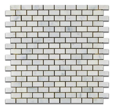 Calacatta Cressa (Asian Statuary) Baby Brick Polished/Honed Stone Tilezz