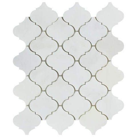 "Premium Italian Calacatta Nuevo ( Carrara Bella ) 2"" Lantern  Polished Or Honed Mosaic"