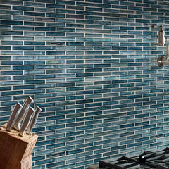 Oasis Blast Stacked Glass Mosaic Tile