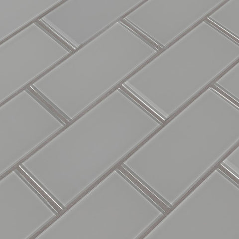 Oyster Gray 3x6 Glass Subway Tile Tilezz