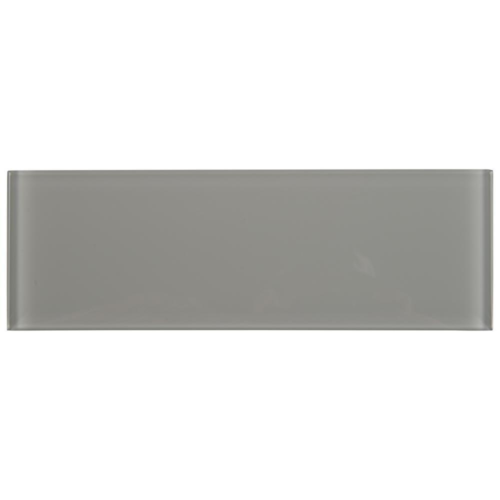 Oyster Gray 4x12 Glass Subway Tile Tilezz