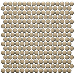 Simple City Sand Penny Round Ceramic Mosaic Tile Tilezz