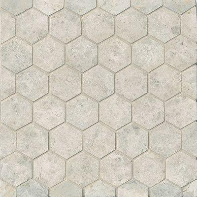 "Tundra Gray Marble 2"" Hexagon Polished Mosaic Tile Stone Tilezz"