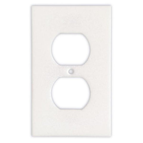 THASSOS WHITE MARBLE SINGLE DUPLEX SWITCH WALL PLATE / SWITCH PLATE / COVER - HONED OR POLISHED
