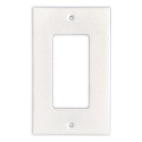 THASSOS WHITE MARBLE SINGLE ROCKER SWITCH WALL PLATE / SWITCH PLATE / COVER - HONED OR POLISHED