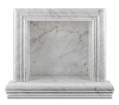 Carrara White Marble Hand-Made Shampoo Niche / Shelf - SMALL