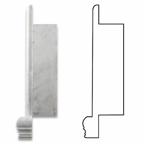 Carrara White Marble Hand-Made Shampoo Niche / Shelf - SMALL Bath Accessories Tilezz