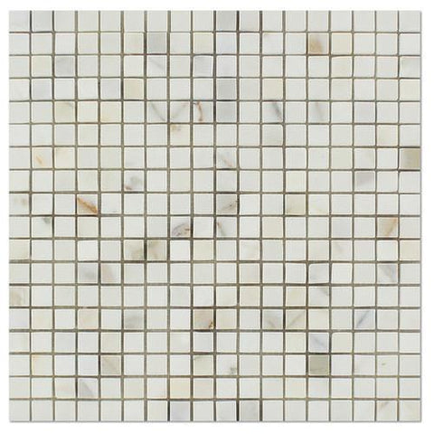 Italian Calacatta Mosaic, 5/8 X5/8, Polished or Honed  Mosaic Tiles