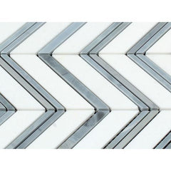 Thassos White & Blue Chevron