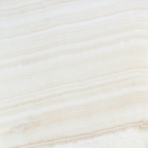 White Onyx Vein Cut 18x18 Polished Field Tile