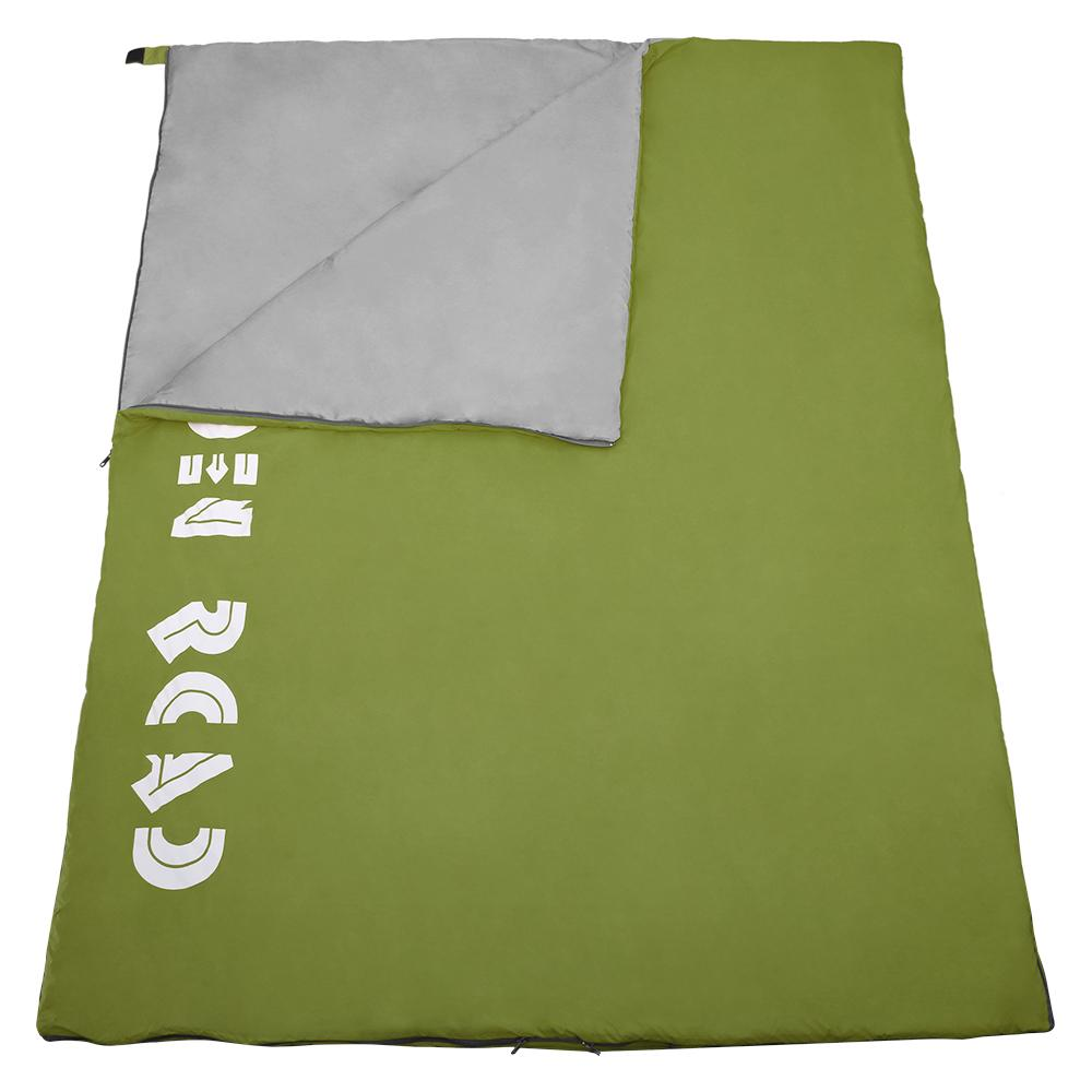 Double Sleeping Bag 3 Season Waterproof Lightweight 2 Person - Olive Green - Forbidden Road