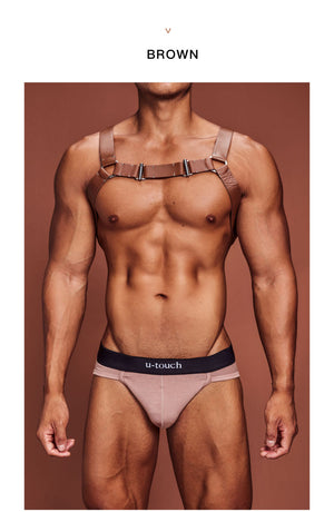 LEATHER-LEATHER CHEST HARNESS