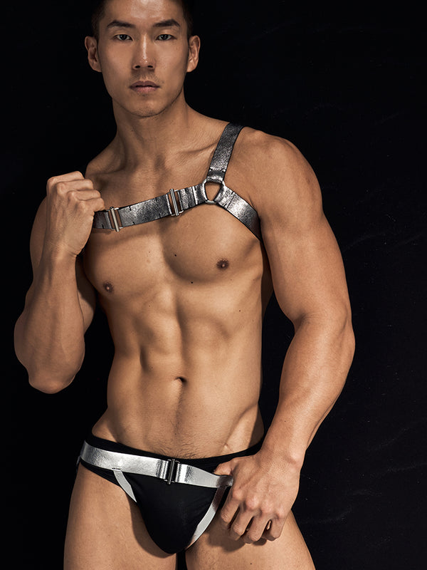LEATHER- SILVER JOCK STRAPS