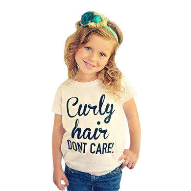'Curly Hair, Don't Care' Toddler's Tee