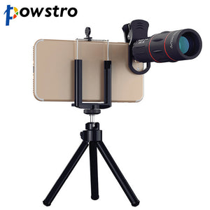 18x Telescopic Zoom Lens with Tripod Clip for Smartphone - dobdob