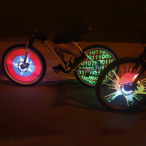 128 LED Double-sided, Programmable Bicycle Wheel Lamp