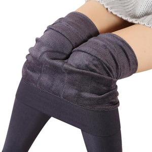 Winter Thick Fleece Lined Thermal Leggings - dobdob
