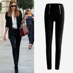 Lady Zip Pencil Pants - dobdob