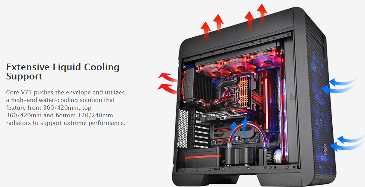 CA-1B6-00F1WN-00 Thermaltake Core V71 Full-Tower Chassis