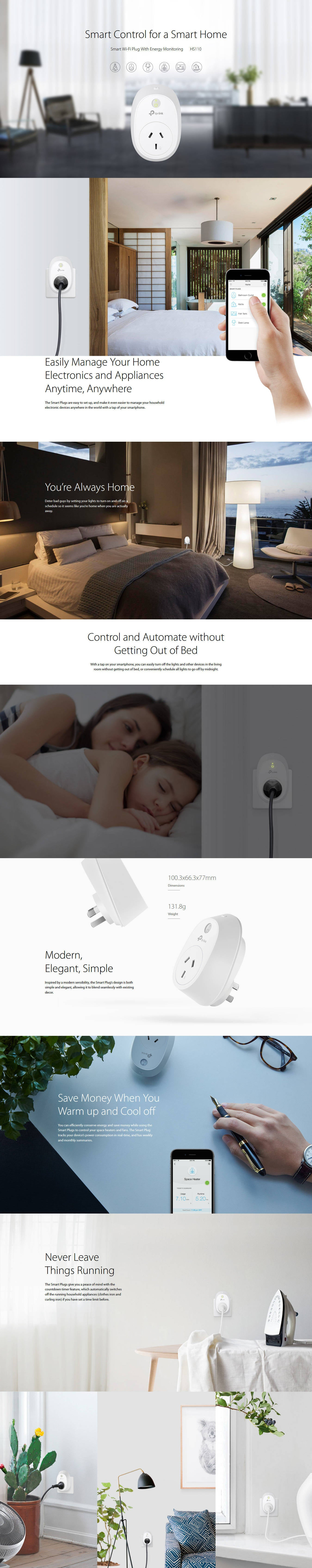 HS110 Smart Wi-Fi Plug with Energy Monitoring