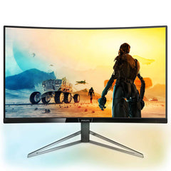 "Philips M-Line 328M6FJRMB Curved 32"" 144Hz HDR LED Monitor with Ambiglow"