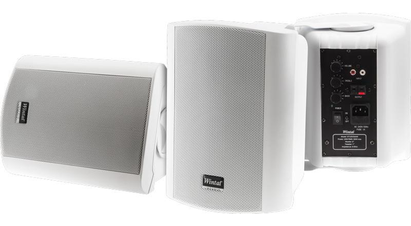 Wintal **OPENED BOX UNIT CLEARANCE** STUDIO5A, WHITE, PAIR, 2-WAY, 60W MAX INDOOR / OUTDOOR
