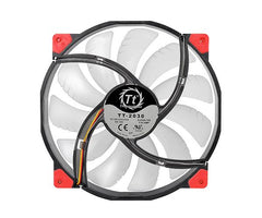 LUNA 20 RED LED 200MM FAN