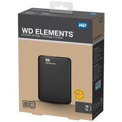"1TB WD ELEMENTS 2.5"" USB3.0 EXTERNAL HDD"