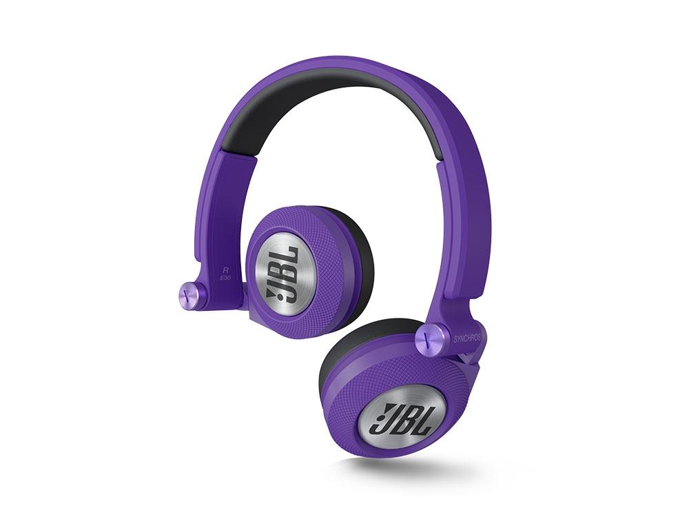 JBL Synchros E30 On Ear Headphones - Purple