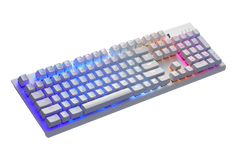 Tesoro G11UXL Gram SE Spectrum Mechanical Optical Switch minimalistic Design Keyboard - White Keyboard and Red Switch