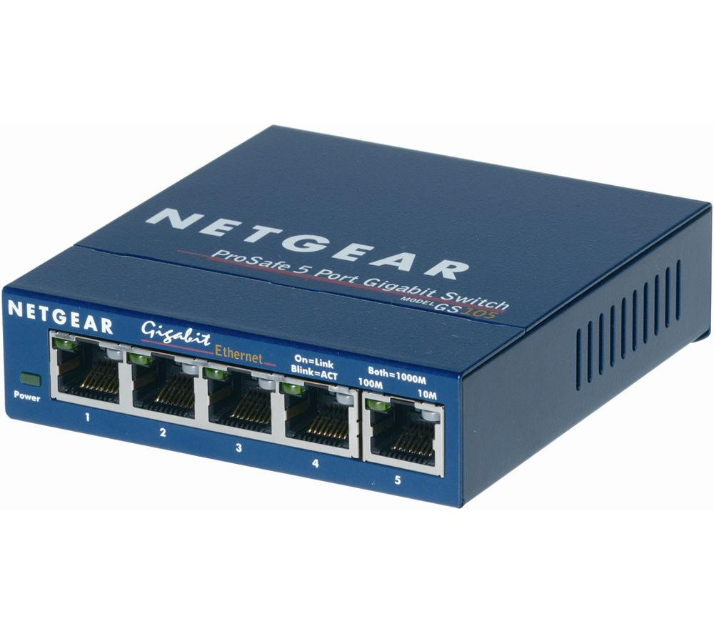 Netgear GS105 5-Port 10/100/1000 Networking Switch