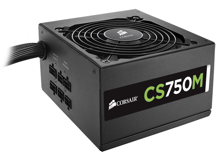 750W CORSAIR CS750M ATX SEMI-MODULAR DESIGN 80+ GOLD PSU