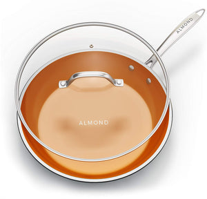 12 Inch Nonstick Copper Ceramic Frying Pan