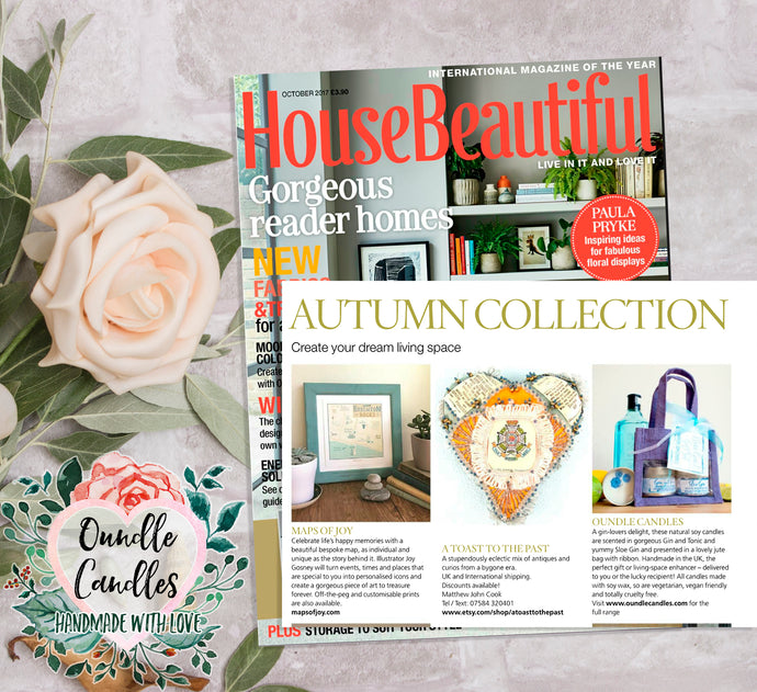 International Magazine of the Year, House Beautiful, loves our candles!