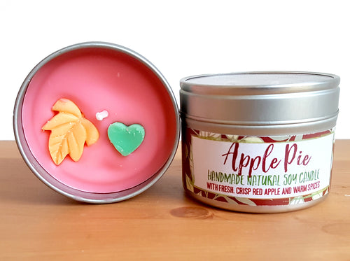 Apple Pie Natural Soy Wax Candle - Standard Size (8oz)