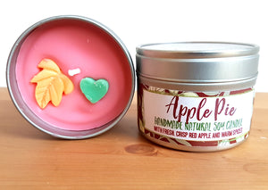 Apple Pie Natural Soy Wax Candle - Large Size (12oz)