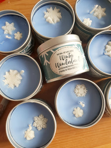 Winter Wonderland Natural Soy Wax Candle - Standard Size (8oz)