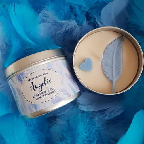 Angelic Natural Soy Wax Candle - Standard Size (8oz)