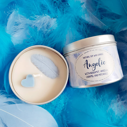 Angelic Natural Soy Wax Candle - Mini Size (4oz)