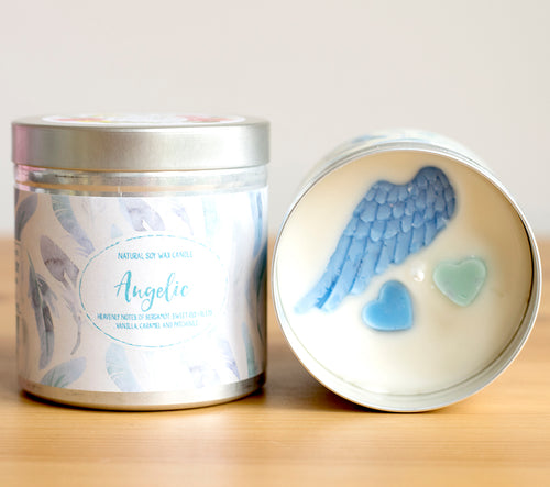 Angelic Natural Soy Wax Candle - Large Size (12oz)
