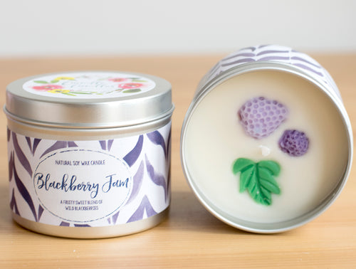 Blackberry Jam Natural Soy Wax Candle - Large Size (12oz)