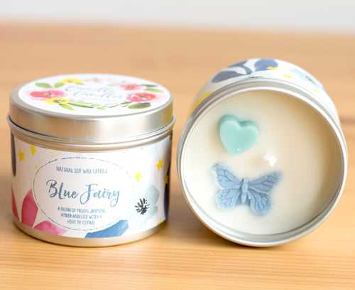 Blue Fairy Natural Soy Wax Candle - Mini Size (4oz)