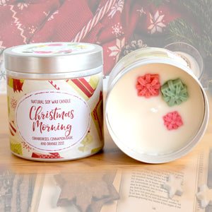 Christmas Morning Natural Soy Wax Candle - Large Size (12oz)