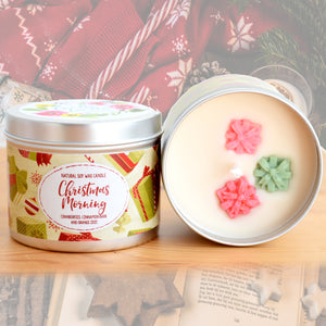 Christmas Morning Natural Soy Wax Candle - Standard Size (8oz)