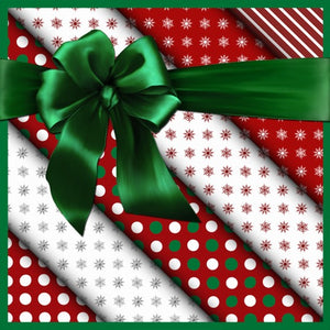 Gift Wrapping with Ribbon and Tag