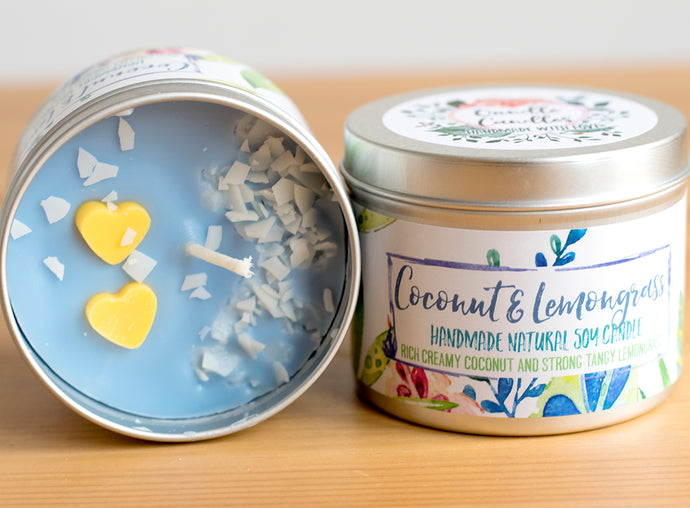 Coconut Lemongrass Soy Wax Candle