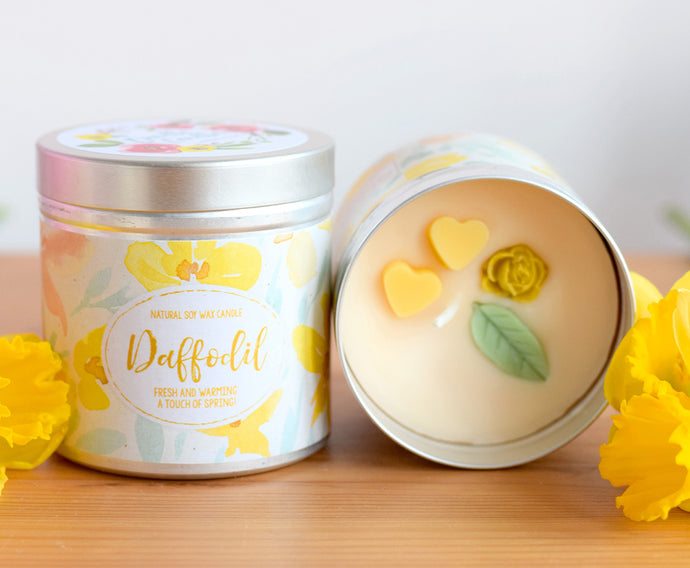 Daffodil Natural Soy Wax Candle - Large Size (12oz)