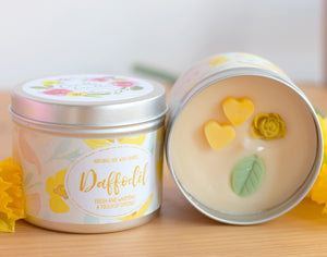 Daffodil Natural Soy Wax Candle - Standard Size (8oz)