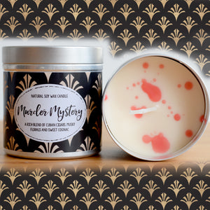 Murder Mystery Natural Soy Wax Candle - Large Size (12oz)