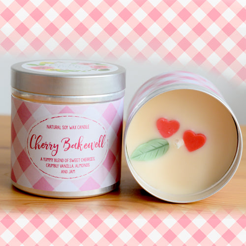 Cherry Bakewell Natural Soy Wax Candle - Large Size (12oz)